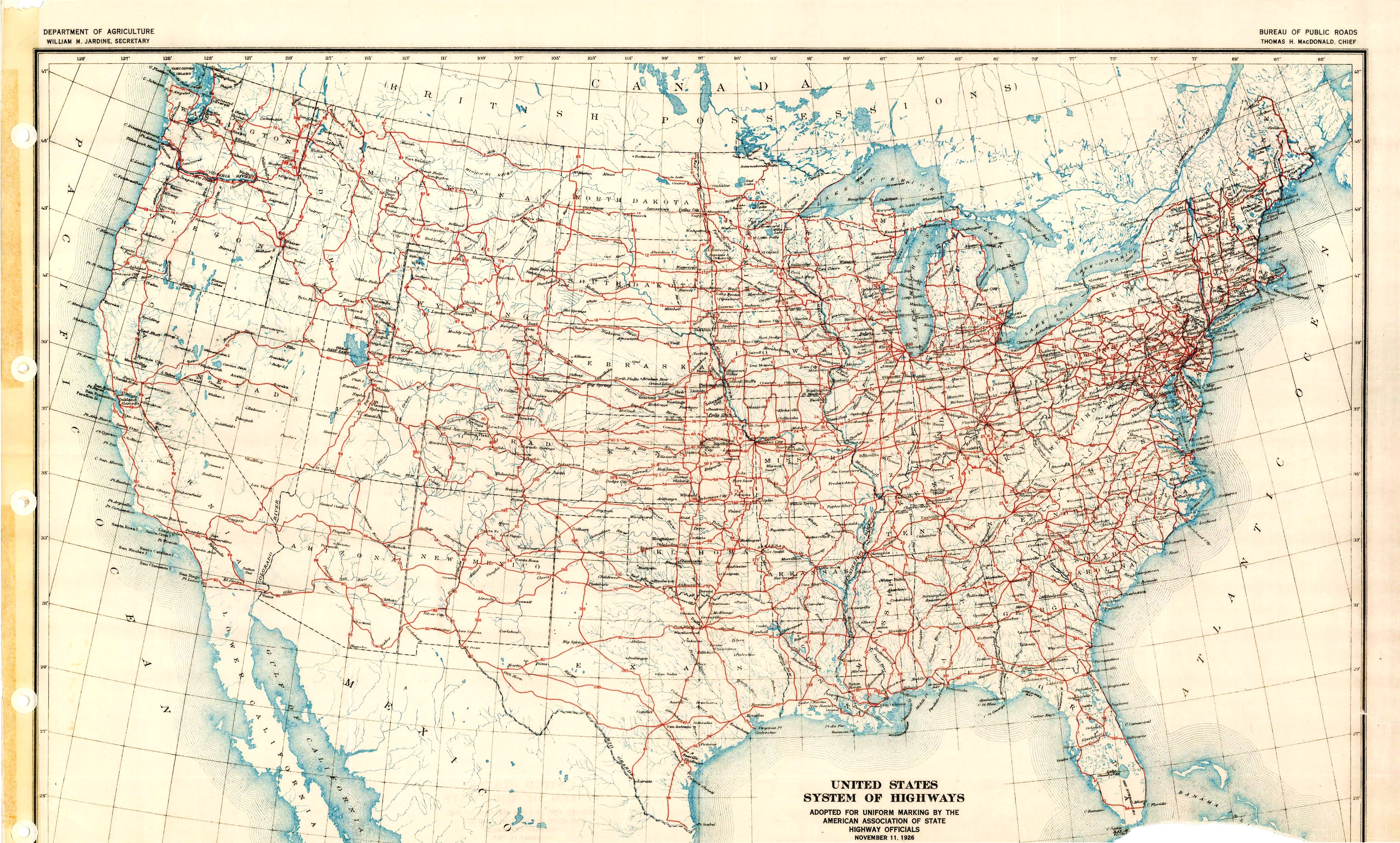 Original 1926 Map Right Click To View Full Size Version And To Save