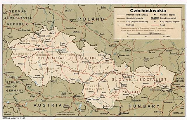 Czechoslovakia-map