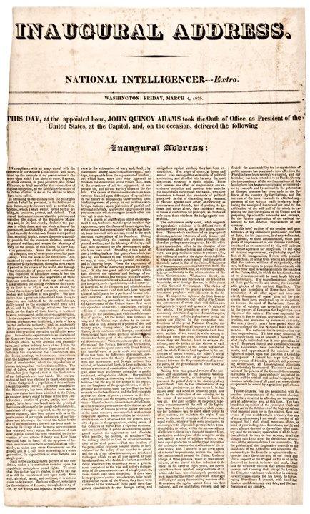 John Quincy Adams' text