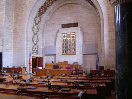 The chamber of the Nebraska Legislature
