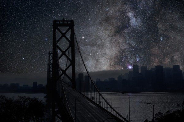 """New York City without Light Pollution"" by Thierry Cohen"